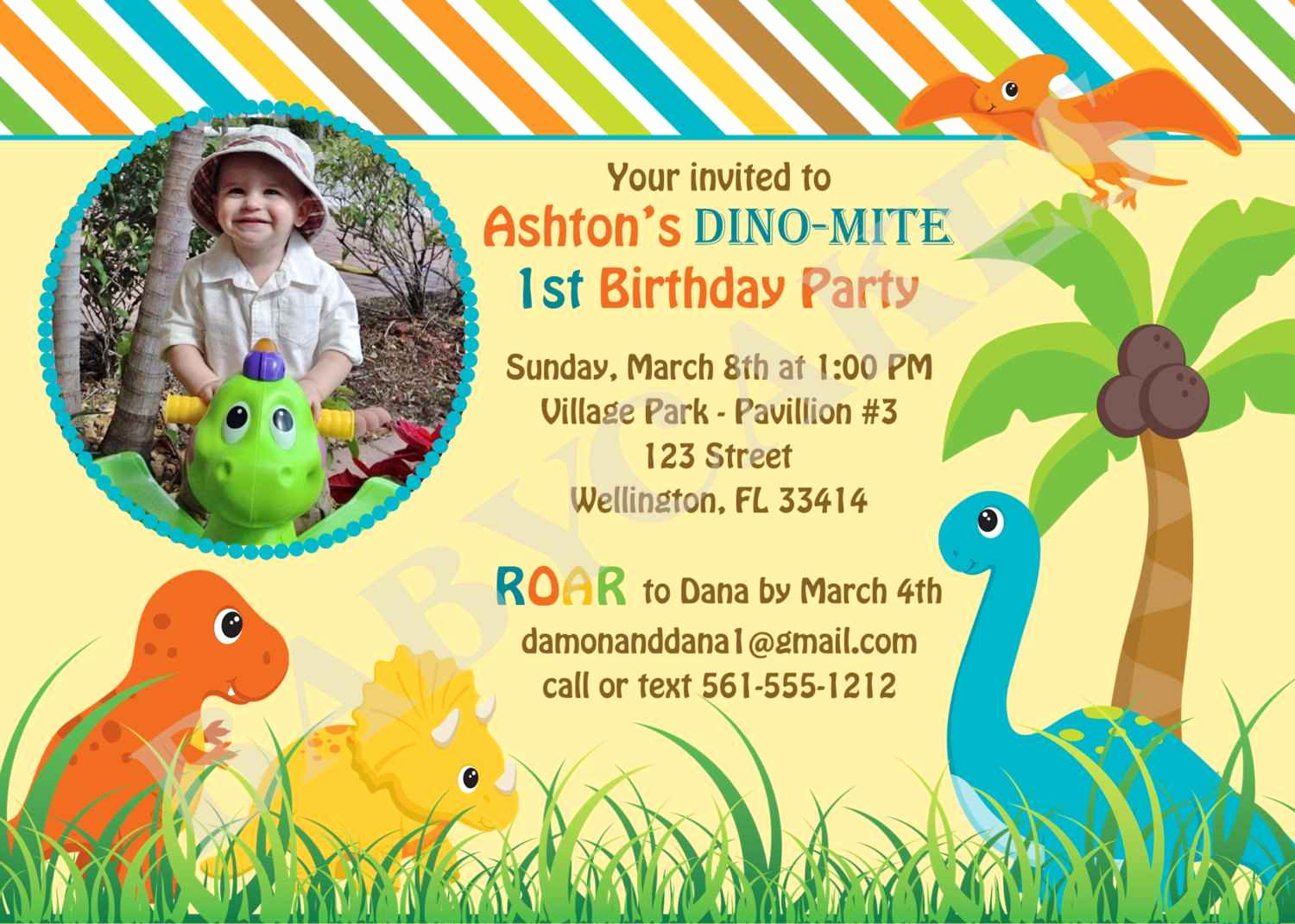 Dinosaur Birthday Invitation Wording Fresh Dinosaur 1st Birthday Invitations
