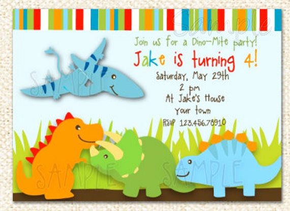 Dinosaur Birthday Invitation Wording Inspirational Dinosaur Birthday Invitations