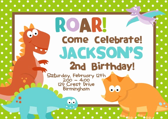 Dinosaur Birthday Invitation Wording Inspirational Diy Digital File Dinosaur Birthday Party Invitation