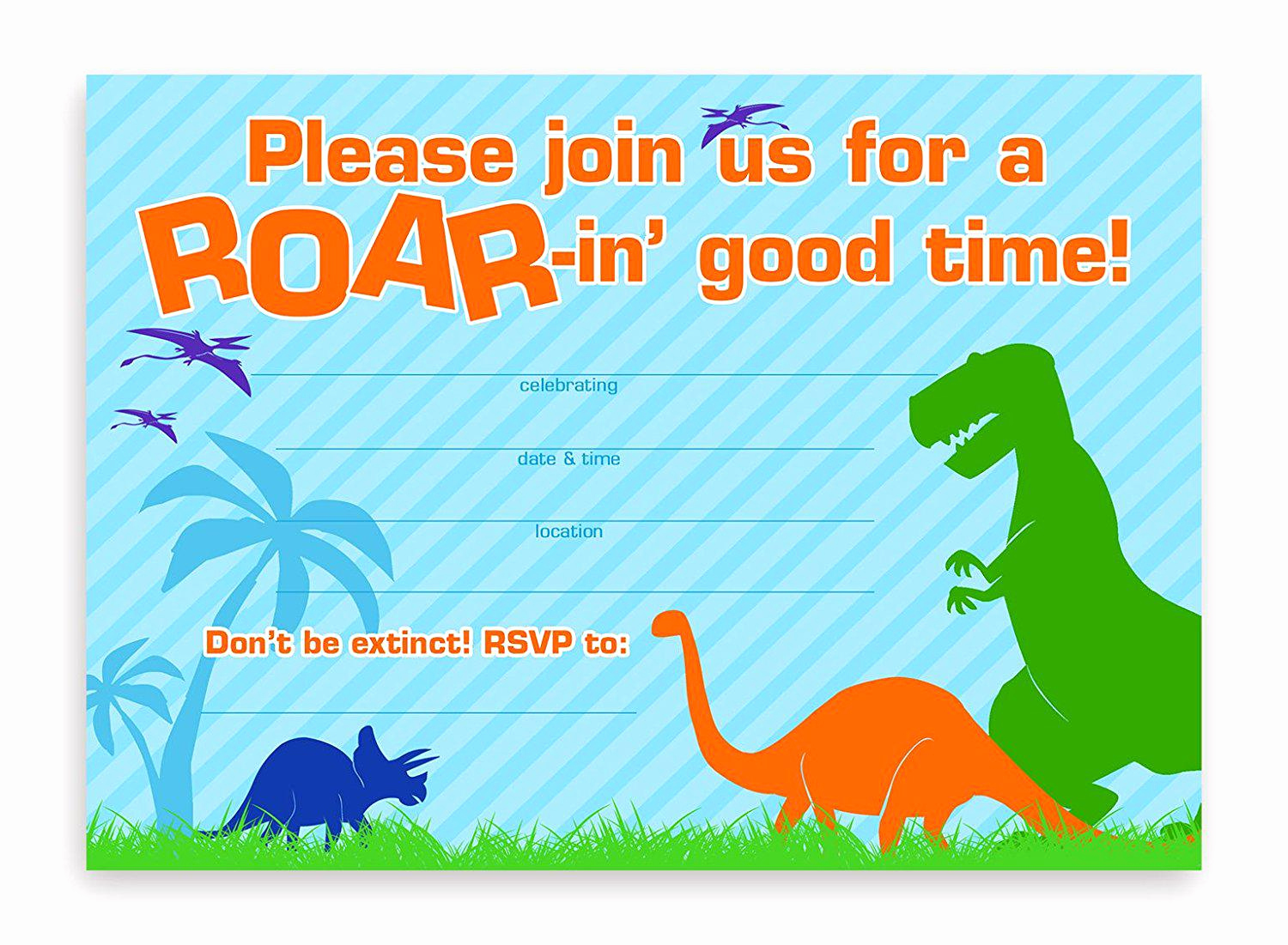 Dinosaur Birthday Invitation Wording Lovely 17 Dinosaur Birthday Invitations How to Sample Templates