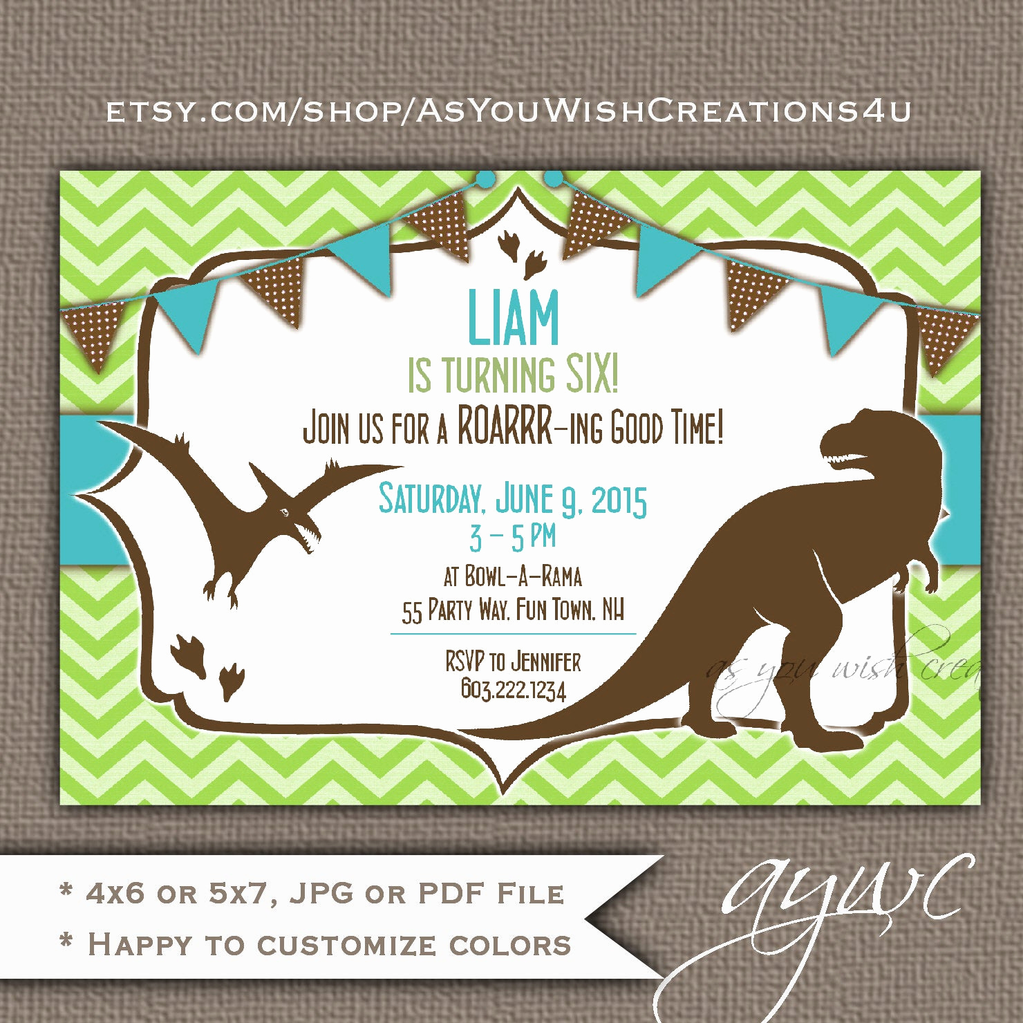 Dinosaur Birthday Invitation Wording Lovely Dinosaur Birthday Party Invitation for A Boy or Girl 3rd