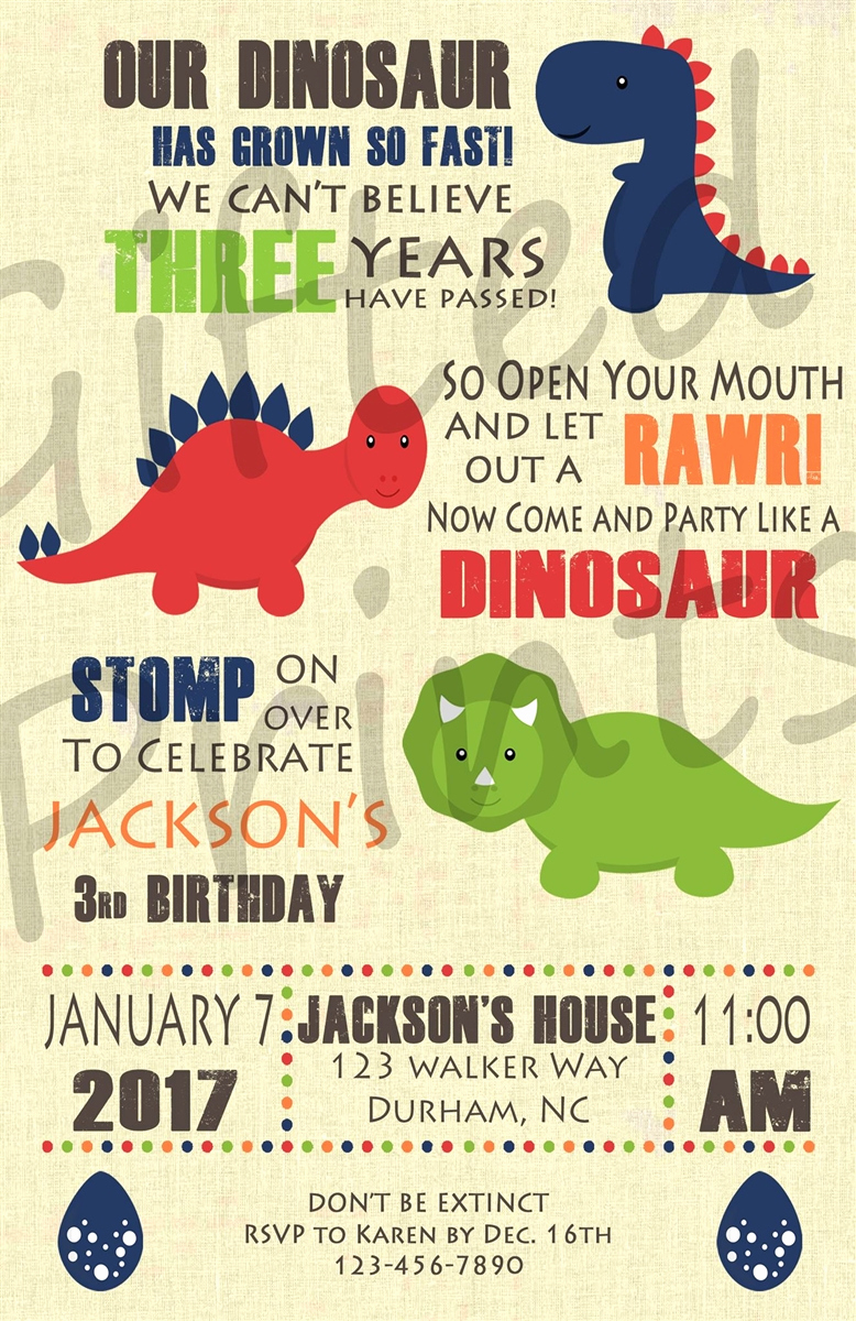 Dinosaur Birthday Invitation Wording Luxury Birthday Invitation Dinosaur theme