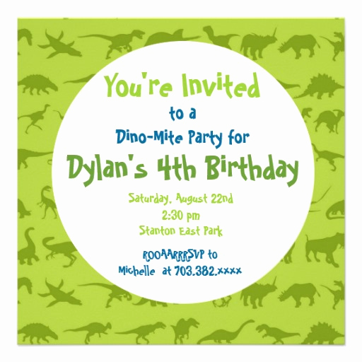 Dinosaur Birthday Invitation Wording New Dinosaur Birthday Invitations