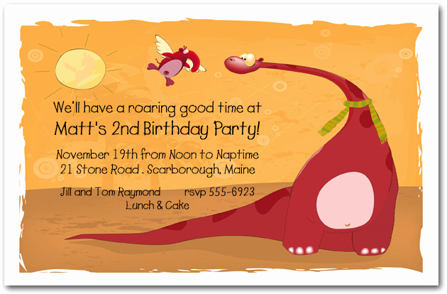 Dinosaur Birthday Invitation Wording Unique Red Dinosaur Invitation Dinosaur Birthday Invitation