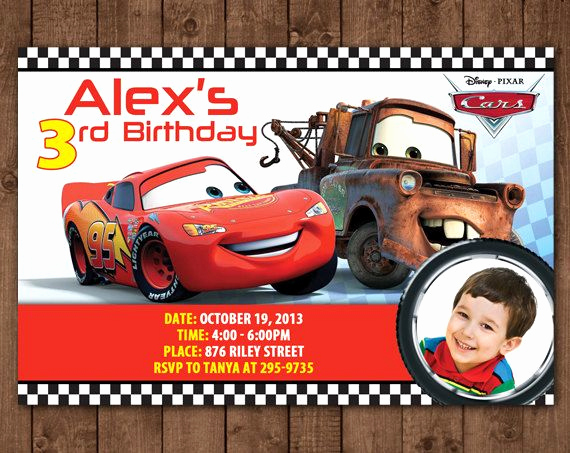 Disney Cars Invitation Template Awesome Pin by Lindsay Gabbai On Caleb S 4th Birthday In 2019