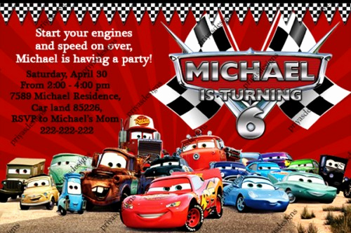 Disney Cars Invitation Template Beautiful Disney Cars Birthday Invitations Ideas – Bagvania Free