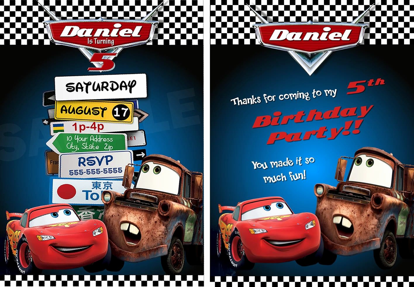 Disney Cars Invitation Template Elegant Cars 2 Invitations Printable Free Cars