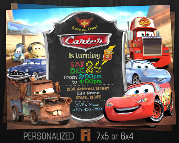 Disney Cars Invitation Template Inspirational Cars Invitation Cars Birthday Party Radiator Springs Cars
