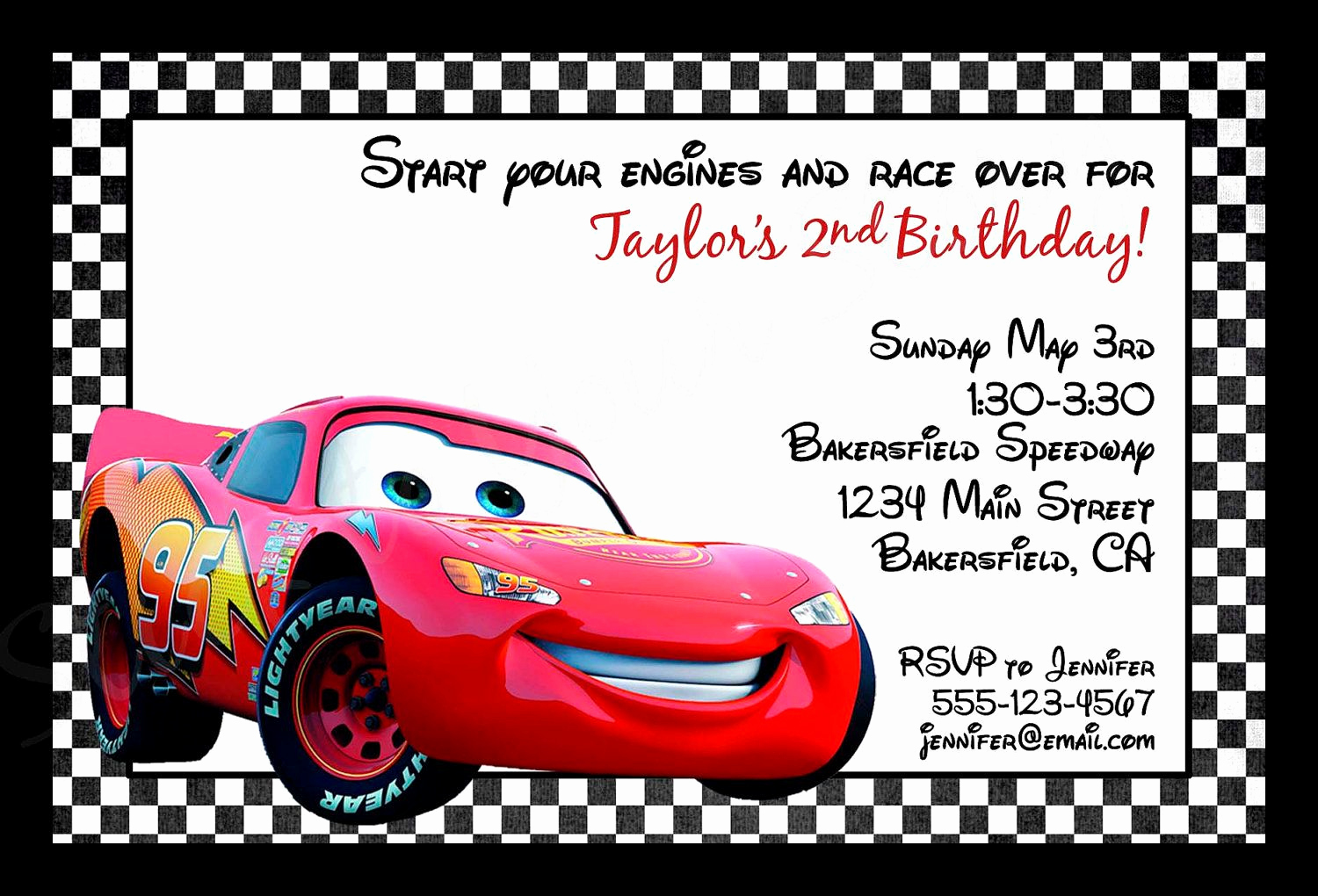 Disney Cars Invitation Template Lovely Invitations Cars Disney