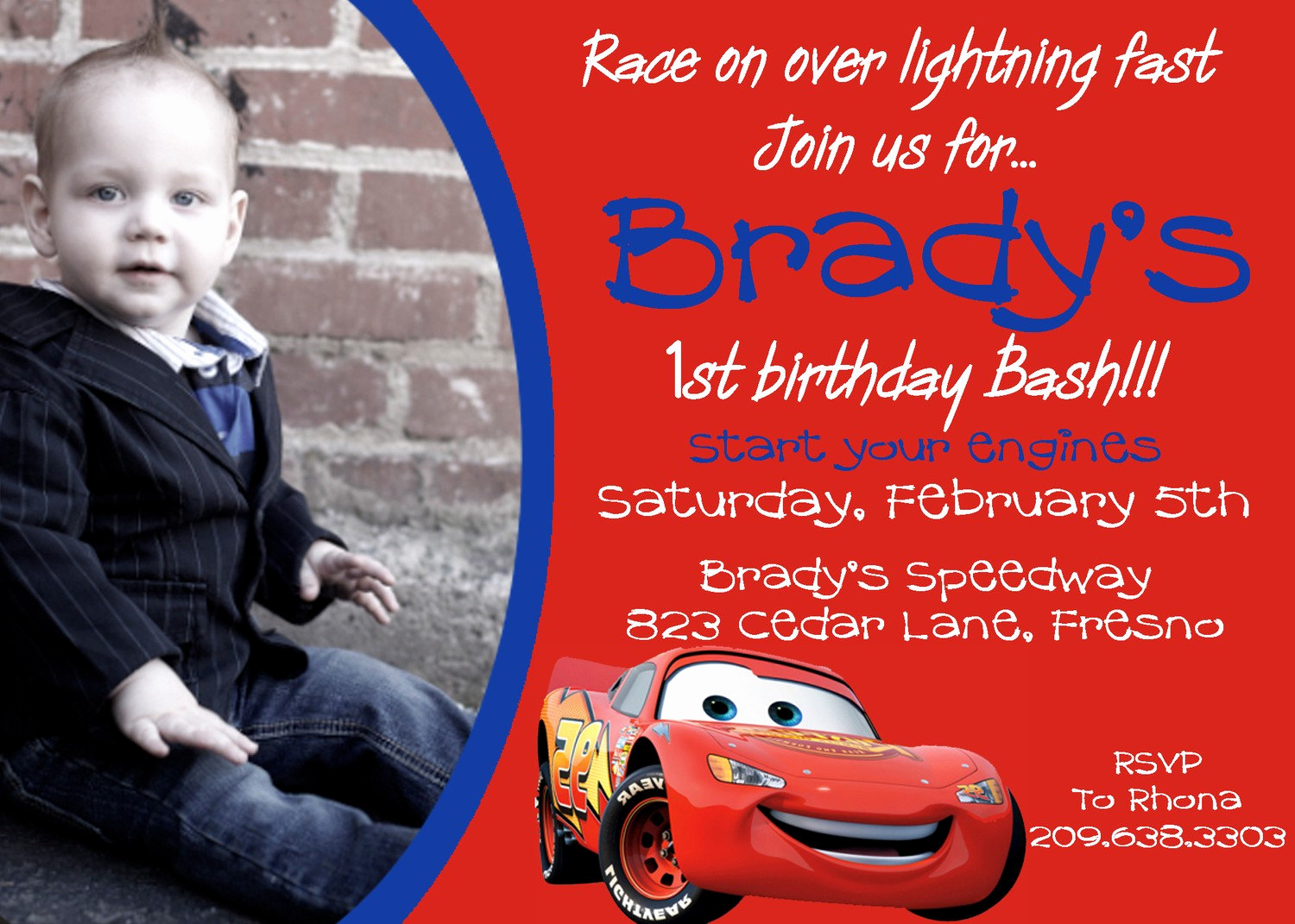 Disney Cars Invitation Template Luxury Disney Cars Birthday Invitation by Darlingdesignsbysara