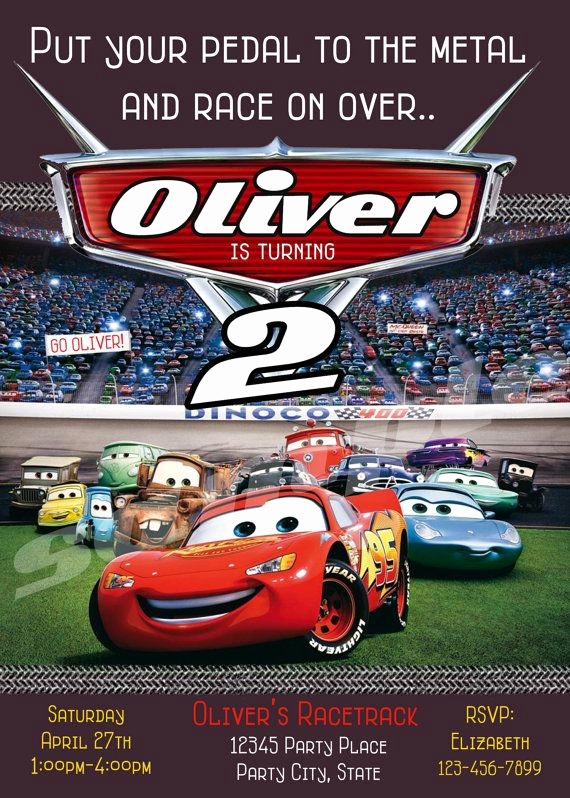 Disney Cars Invitation Template Unique 25 Best Ideas About Cars Birthday Invitations On