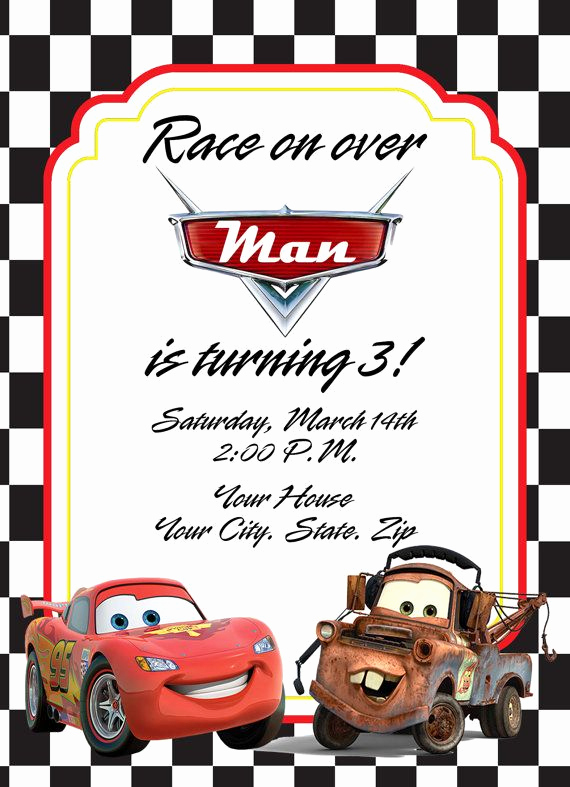 Disney Cars Invitation Template Unique Best 25 Cars Birthday Invitations Ideas On Pinterest