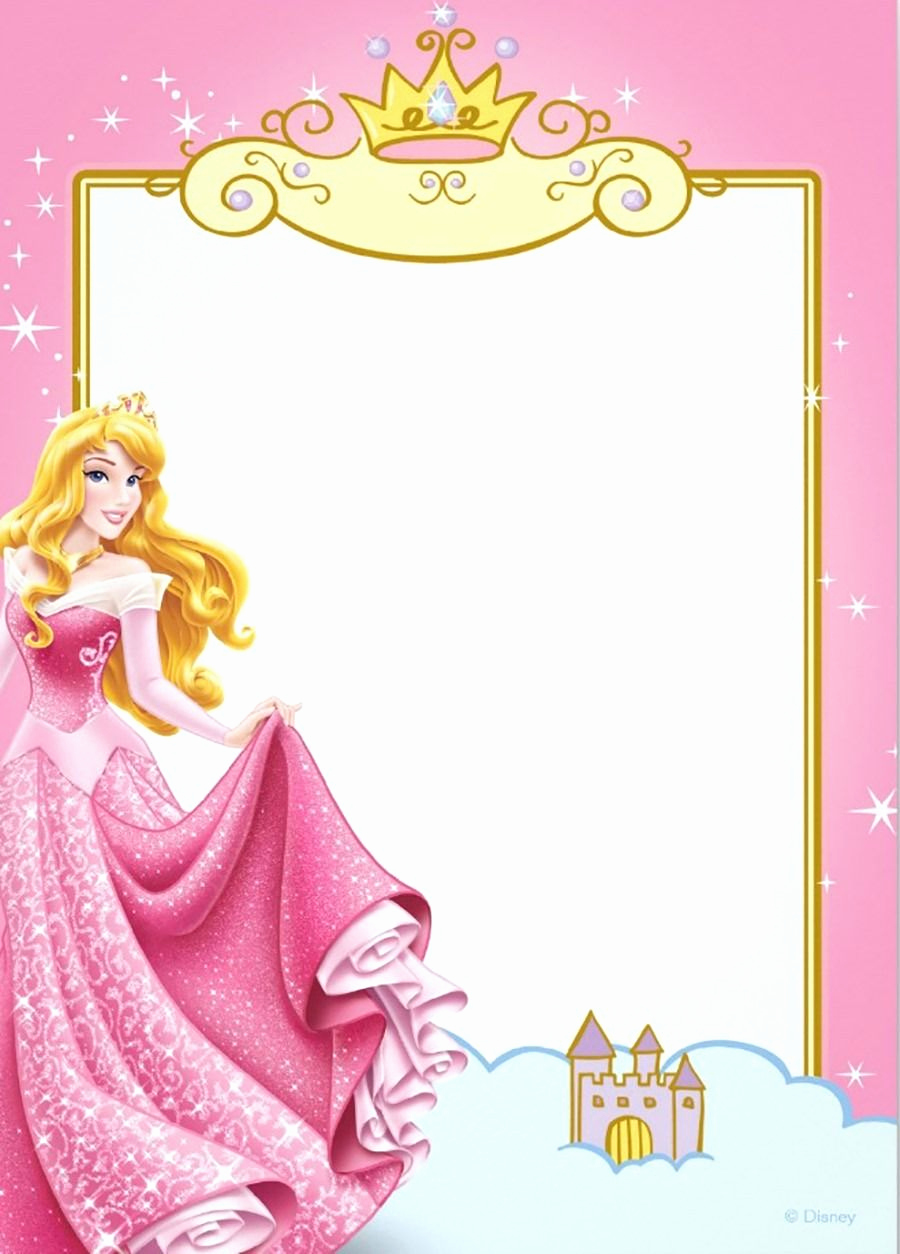 Disney Princess Invitation Template Beautiful Printable Princess Invitation Card