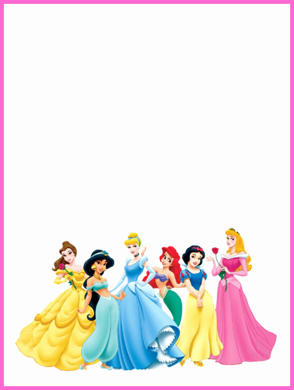 Disney Princess Invitation Template Best Of Disney Princess Blank Invitation