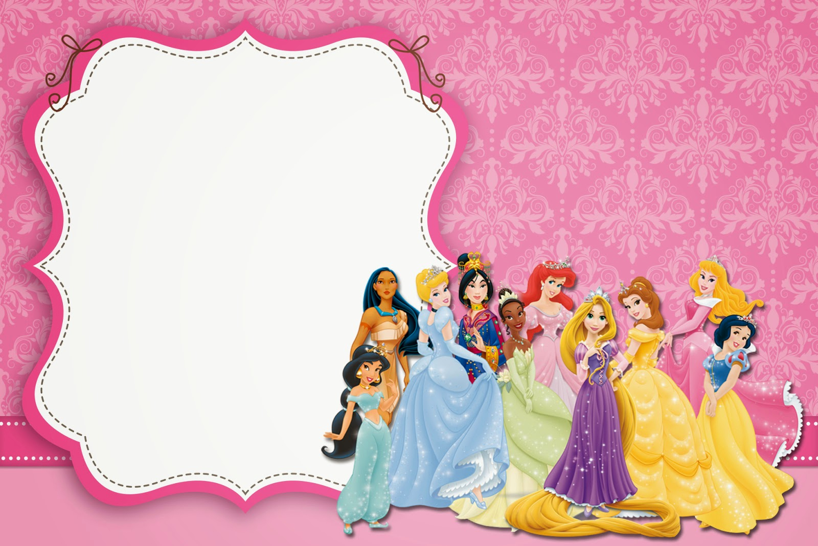 Disney Princess Invitation Template Best Of Disney Princess Party Free Printable Party Invitations