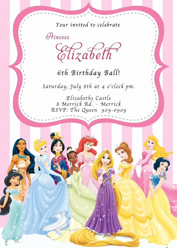 Disney Princess Invitation Template Elegant Pin by Amber Dodge Cromwell On Lucy S 4th Birthday