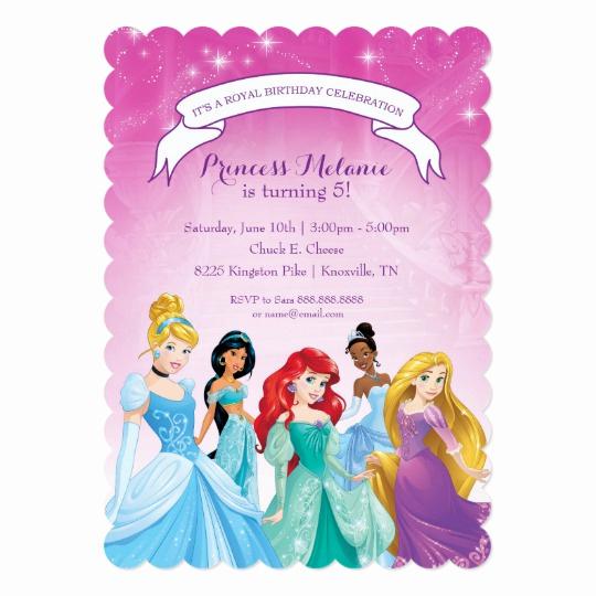 Disney Princess Invitation Templates Free Awesome Disney Princess Birthday Invitation