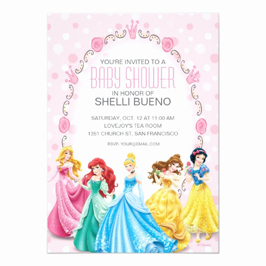 Disney Princess Invitation Templates Free Awesome Disney Princess It S A Girl Baby Shower Card