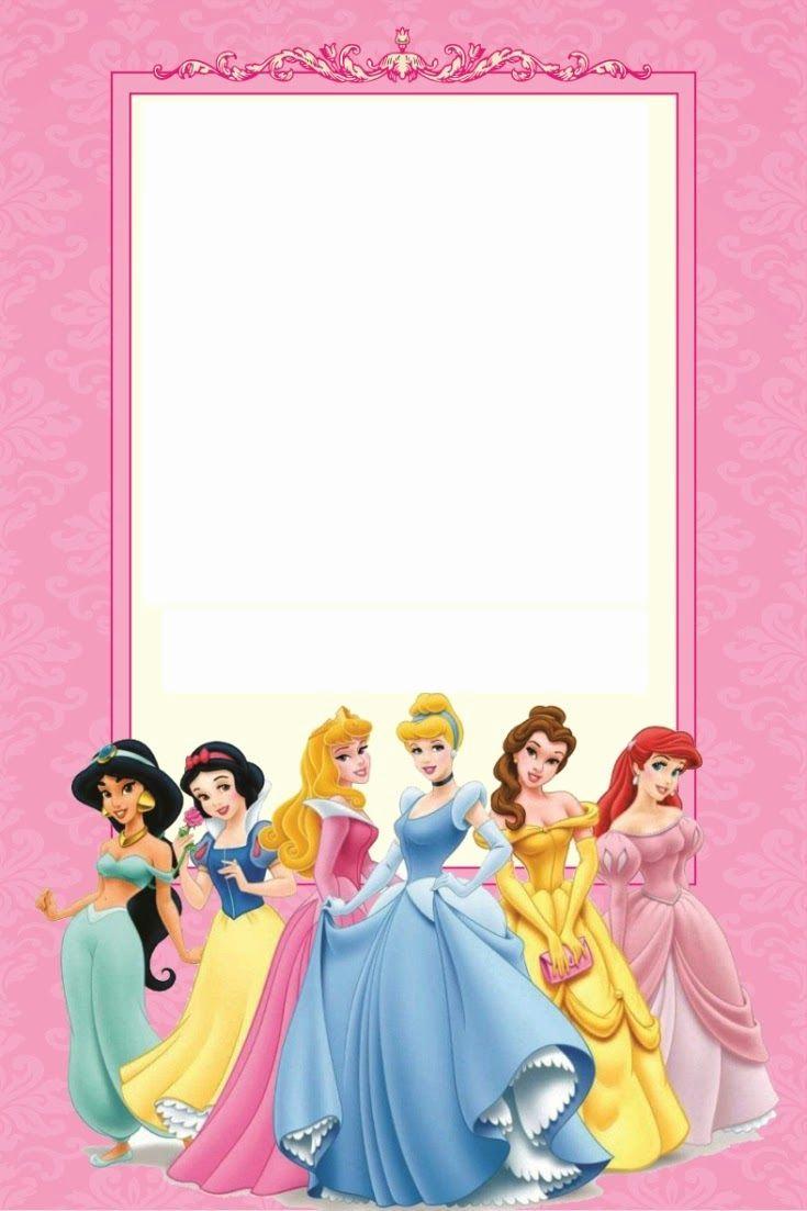 Disney Princess Invitation Templates Free Elegant Free Printable Disney Princess Ticket Invitation