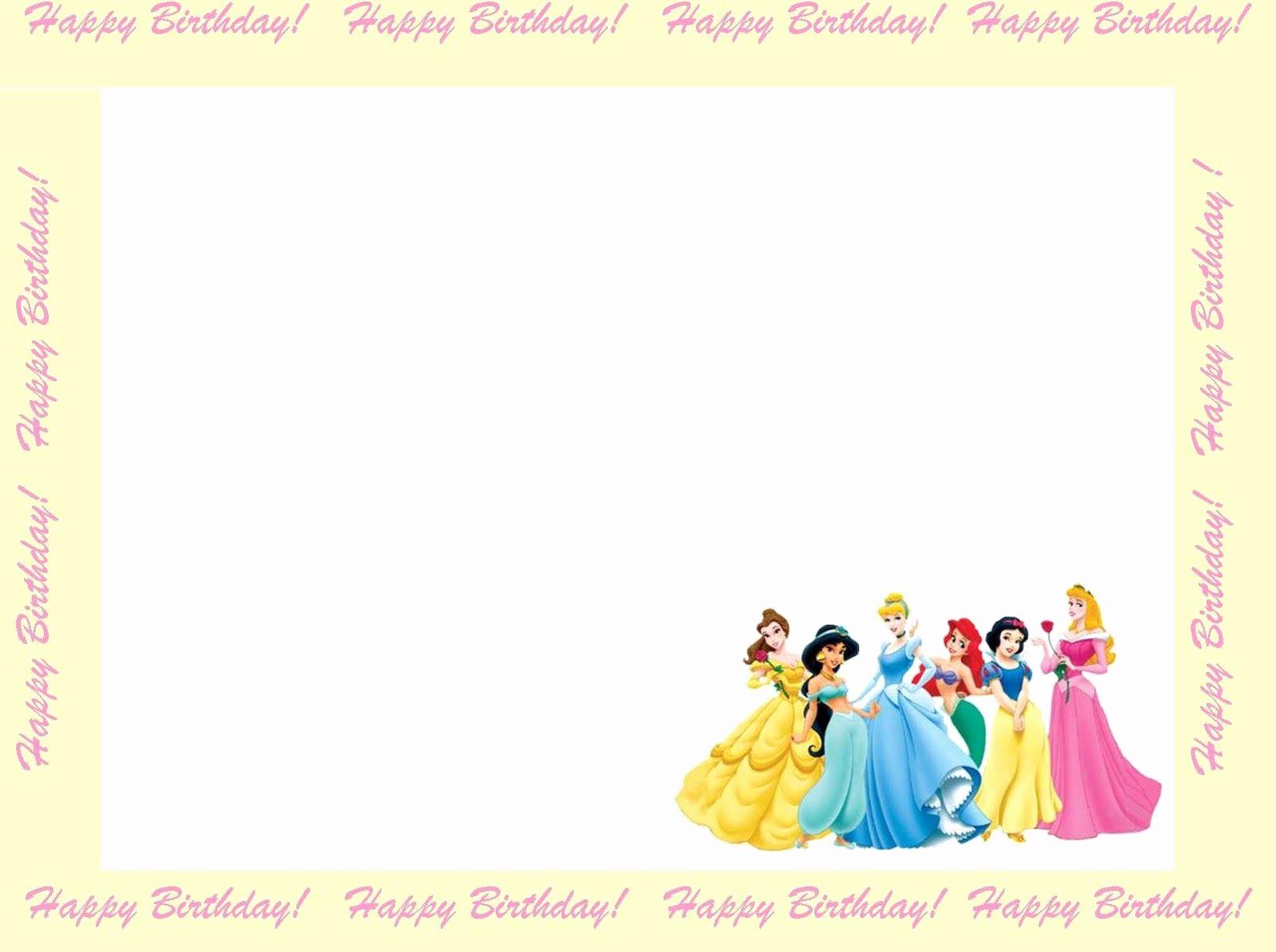 Disney Princess Invitation Templates Free Luxury 6 Free Borders for Birthday Invitations