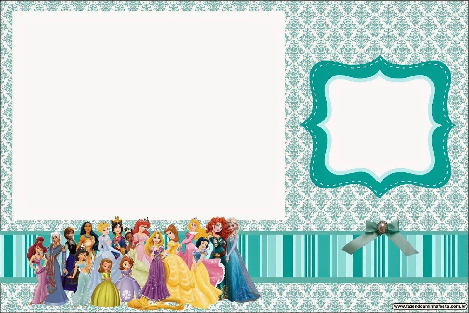 Disney Princess Invitation Templates Free Luxury All Disney Princess Free Printable Invitations