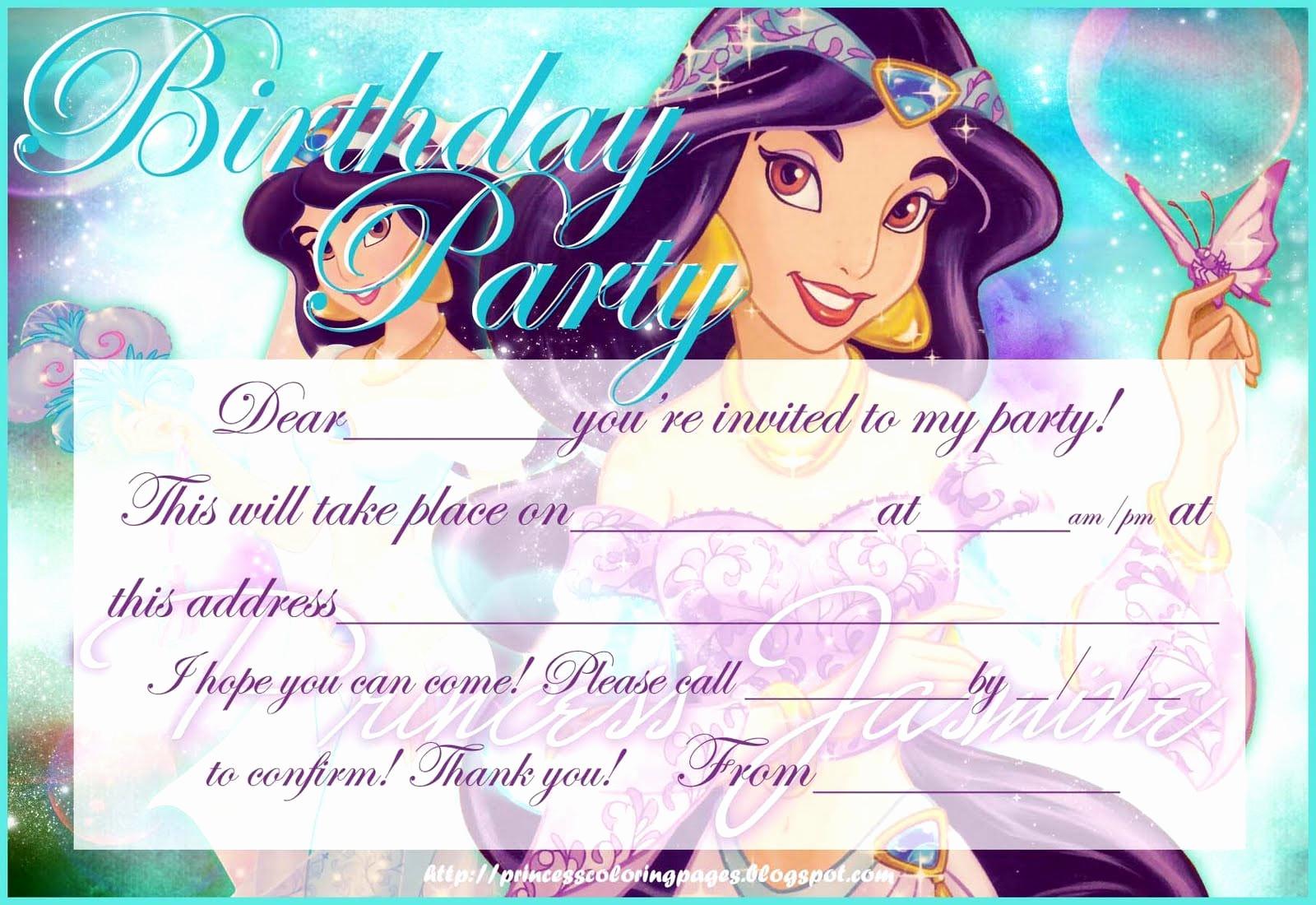 Disney Princess Invitation Templates Free Luxury Free Disney Princess Invitation Templates