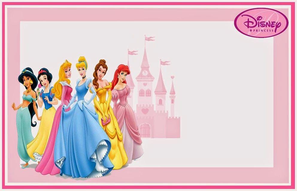 Disney Princess Invitation Templates Free New Princesas Disney Invitaciones Para Imprimir Gratis