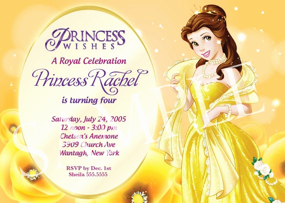 Disney Princess Invitation Templates Free Unique Items Similar to Princess Birthday Invitation Template On Etsy