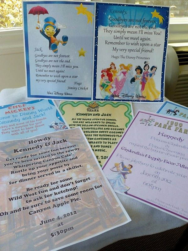 "Disney World Invitation Letter Beautiful ""invitations"" to Wdw Dinner Reservations Great Idea for"
