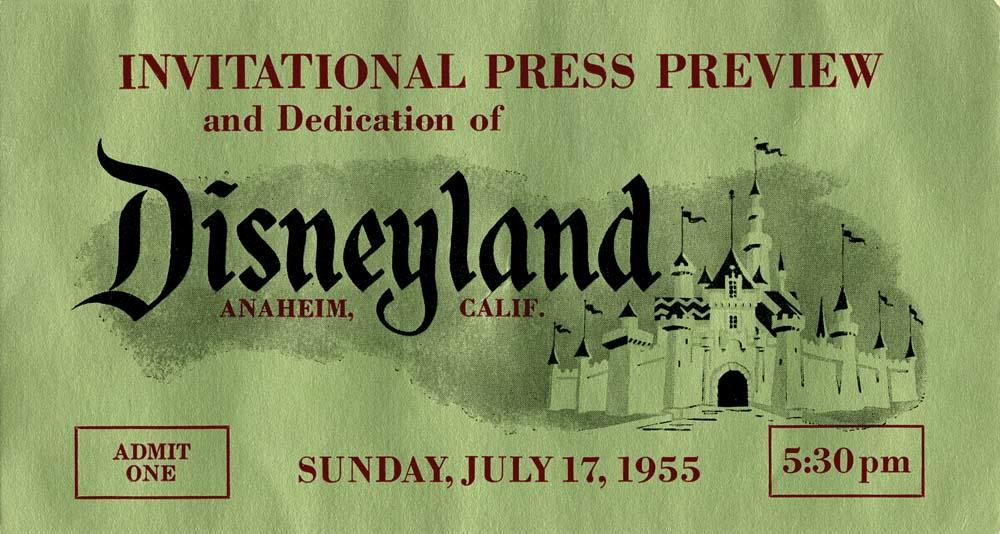 Disney World Invitation Letter Elegant Disneyland Opening Day Pass and Invitation Letter