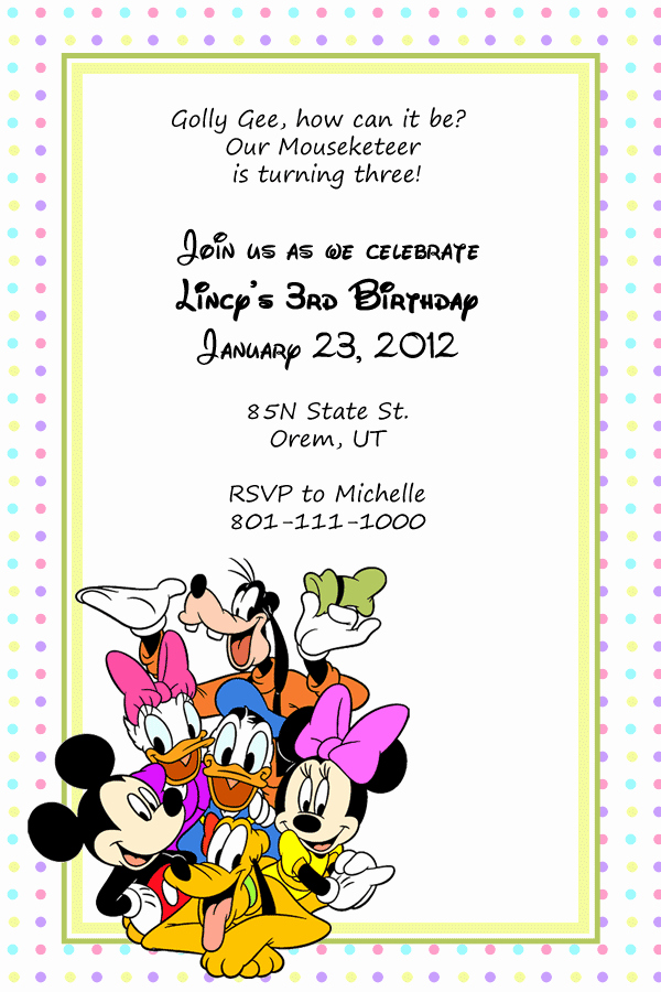 Disney World Invitation Letter Inspirational Free Baby Shower Border Templates Cliparts