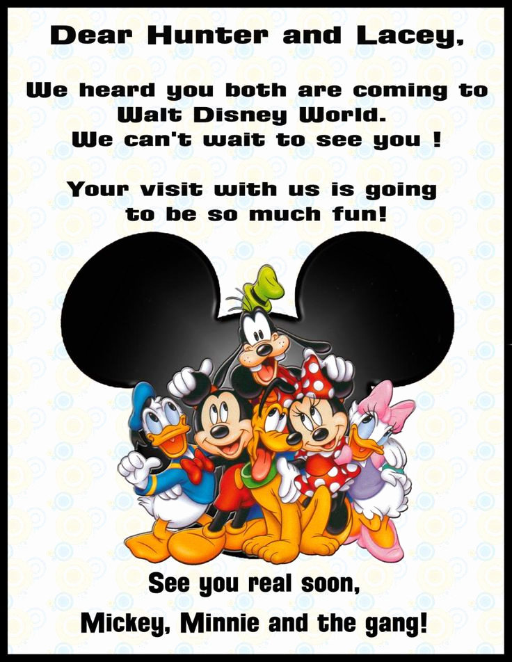 Disney World Invitation Letter New 17 Best Images About Camp Mickey & Minnie Invitation On