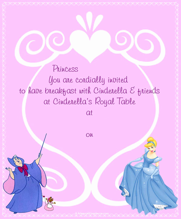 Disney World Invitation Letter Unique Disney Printable Trip and event Invitations Free