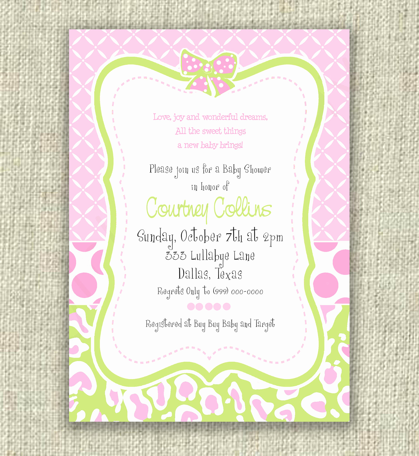 Display Baby Shower Invitation Wording Awesome Couples Baby Shower Open House Invitation Wording • Baby