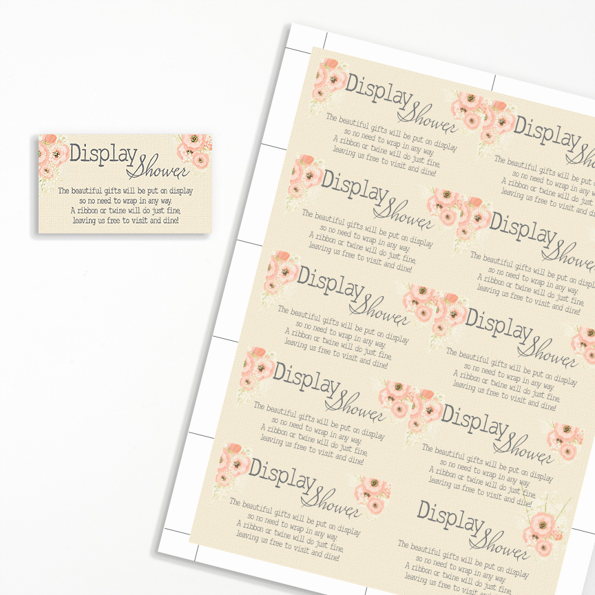 Display Baby Shower Invitation Wording Elegant Display Shower Invitation Insert