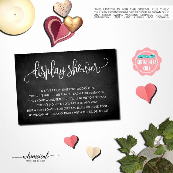 Display Baby Shower Invitation Wording Inspirational Bridal Shower Display Shower Card Chalk Printable