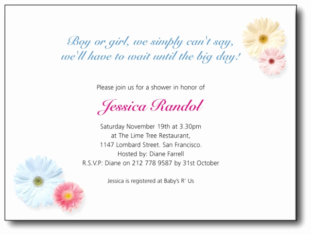 Display Baby Shower Invitation Wording Unique Baby Shower Invitations Wordings