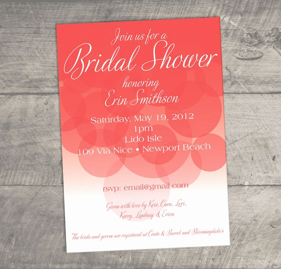 Display Bridal Shower Invitation Wording Awesome Items Similar to Bubbly Elegant and Fun Bridal Shower