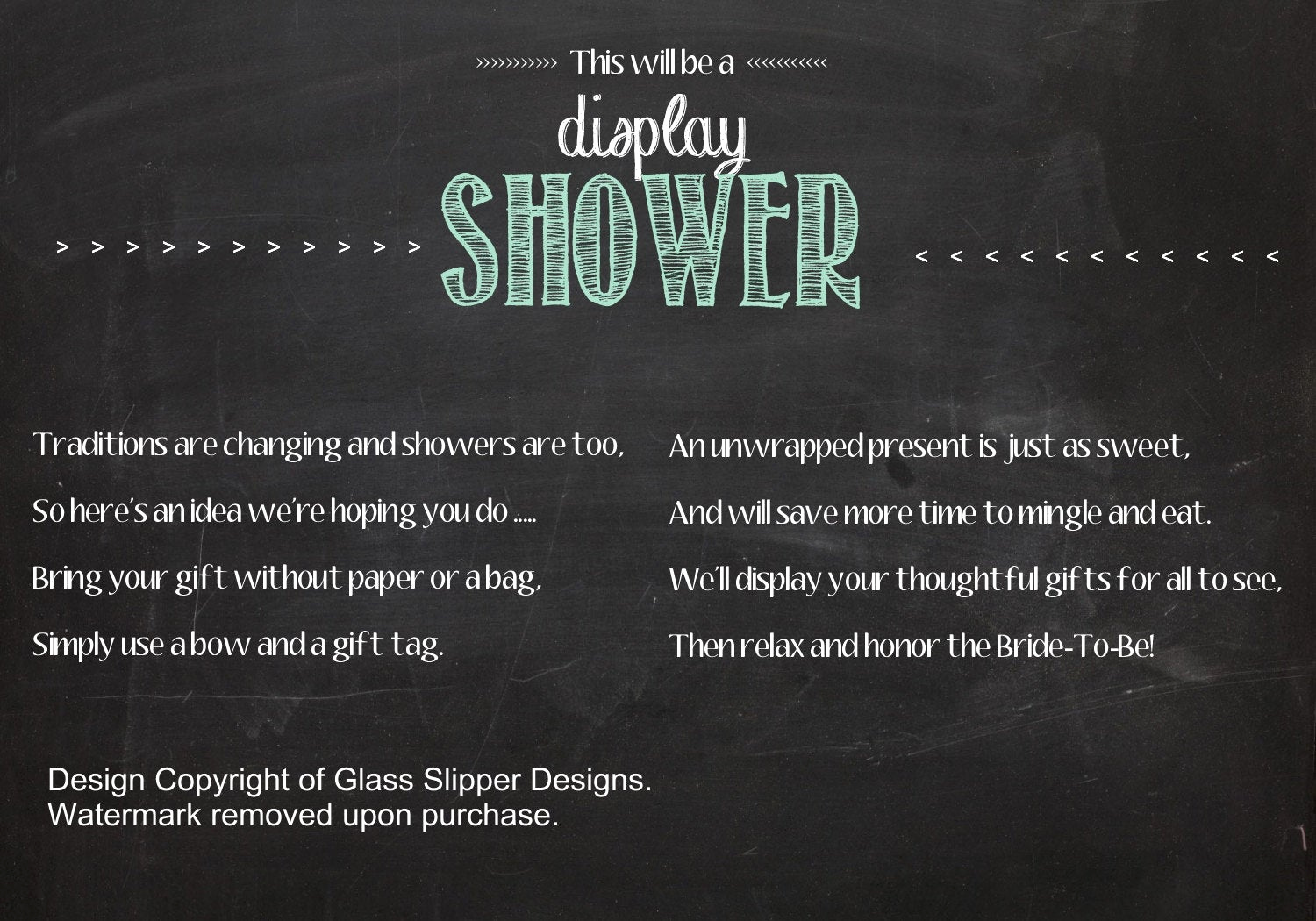 Display Bridal Shower Invitation Wording Best Of Printable Display Shower Insert for Bridal Shower