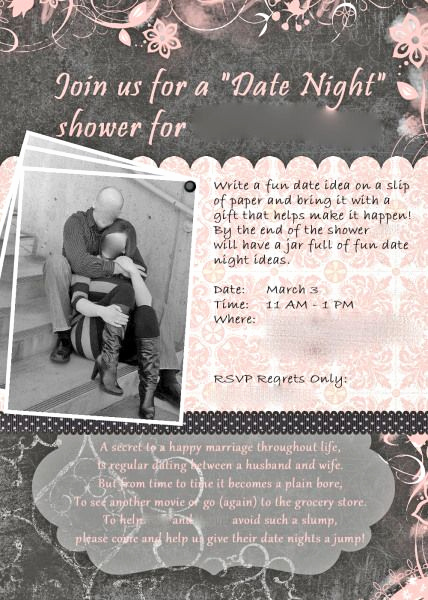Display Bridal Shower Invitation Wording Fresh Date Night Bridal Shower Invitations Google Search