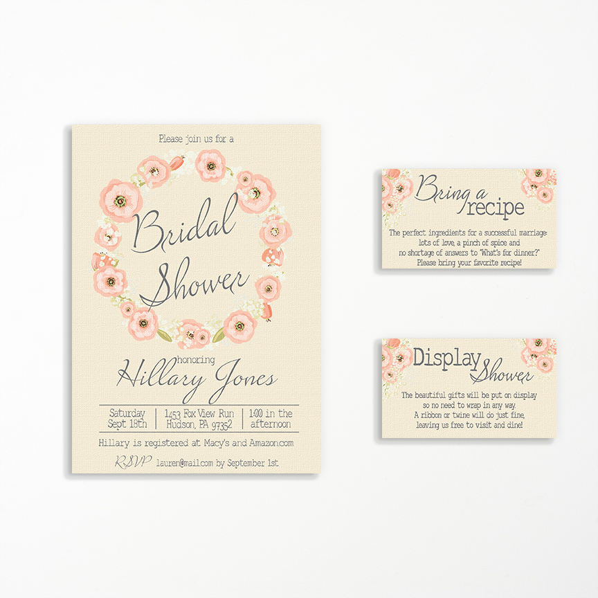 Display Bridal Shower Invitation Wording Lovely Display Shower Invitation Insert