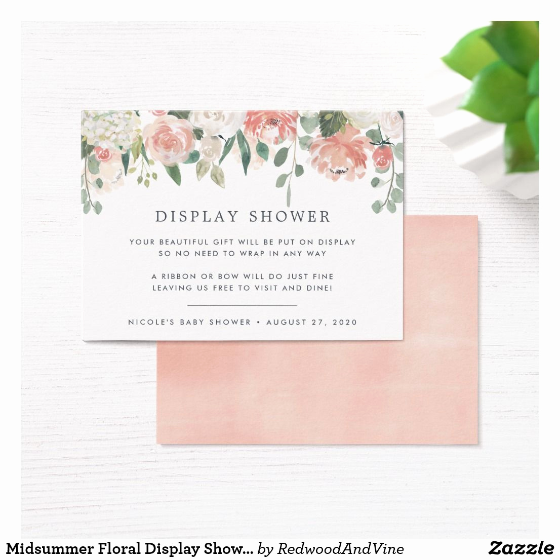 Display Bridal Shower Invitation Wording Lovely Midsummer Floral Display Shower Card