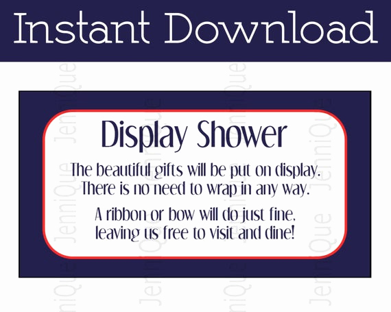 Display Bridal Shower Invitation Wording New Printable Display Shower Invitation Insert Baby Shower Invite