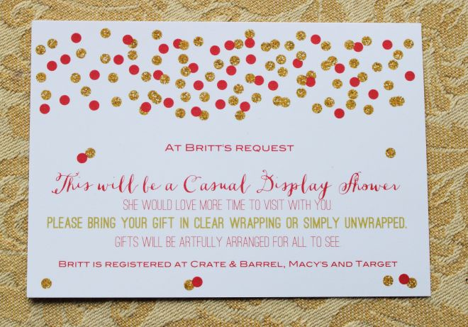 Display Shower Invitation Wording Luxury Display Shower Card Wording Morethanhungry