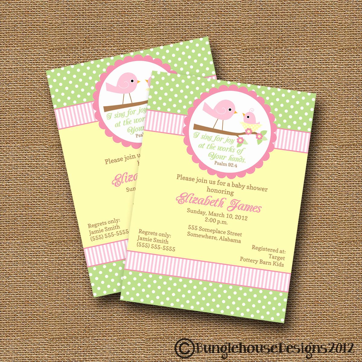 Diy Baby Shower Invitation Best Of Bird Baby Shower Invitation Diy Printable Baby Girl Christian