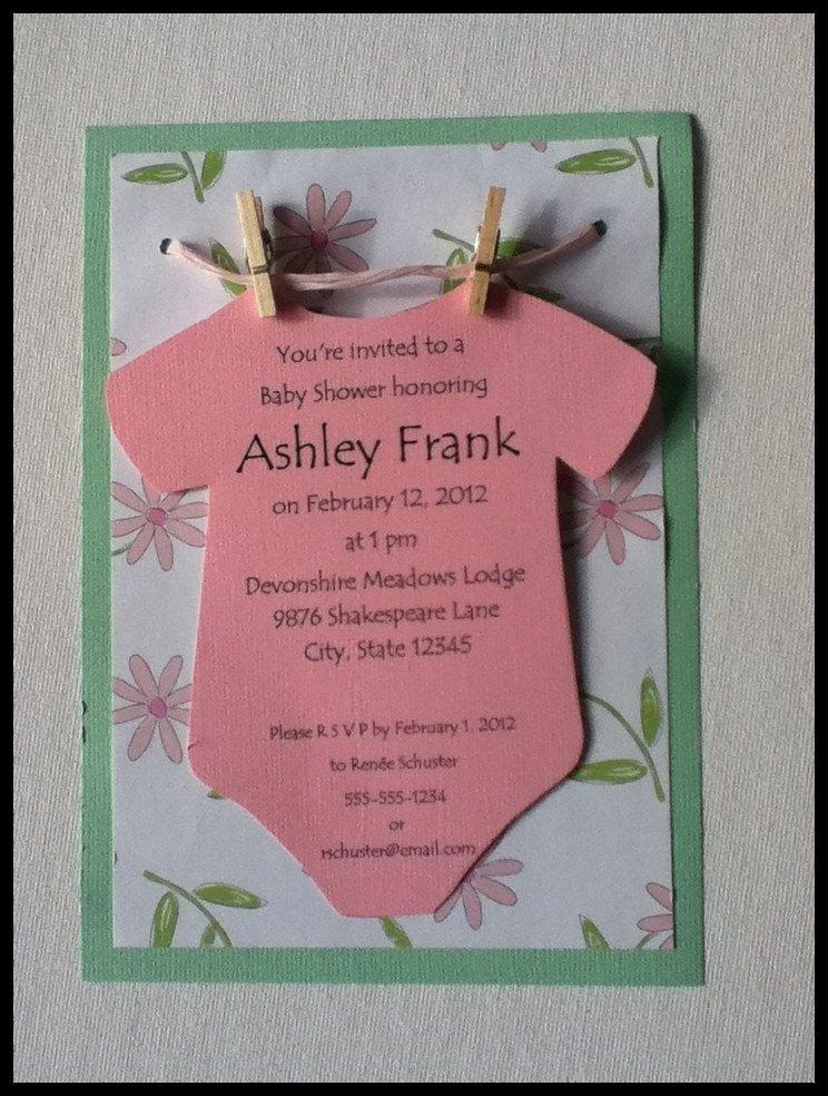 Diy Baby Shower Invitation Ideas Lovely Esie On A Clothesline Baby Shower Invitation Neutral