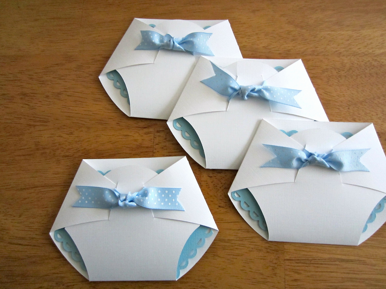 Diy Baby Shower Invitation Ideas New Handmade Baby Shower Invitation Diaper Shape