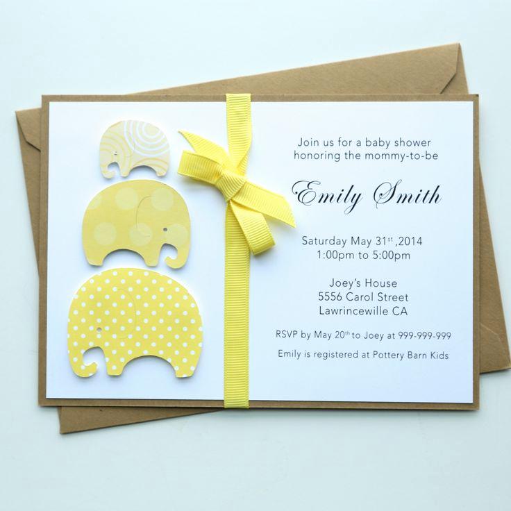 Diy Baby Shower Invitation Ideas Unique 25 Best Ideas About Baby Shower Invitations On Pinterest