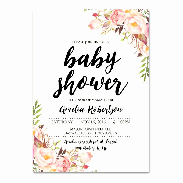 Diy Baby Shower Invitation Kits Elegant Editable Pdf Baby Shower Invitation Diy – Elegant Vintage