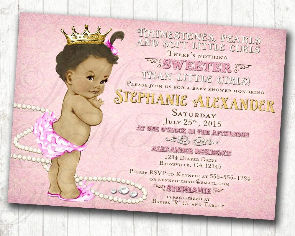 Diy Baby Shower Invitation New Girl Baby Shower Invitation for Girl African American Diy